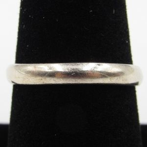 Vintage Size 8.25 Sterling Rustic Simple Band Ring